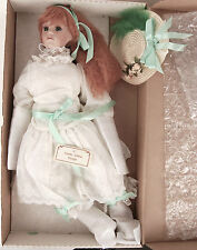 "Marie Alana Design Carlie Hand Painted Porcelain Doll 25-1/2"" Red Hair Signed"