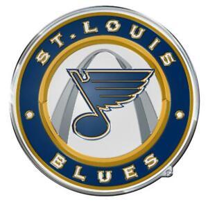 St Louis Blues Die Cut Metal Auto Emblem [NEW] NHL Car Truck Decal Sticker