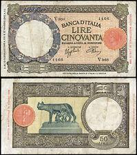 50 Lire Lupa 13/2/1943 Azzolini - Urbini
