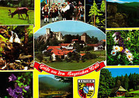 Grüße aus dem Bayerischen Wald,.ungelaufene AK