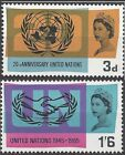 Great Britain 1965 UNITED NATIONS (PHOSPHOR) (2) SG 681-2p Unhinged Mint
