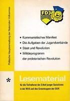 Lesematerial für die Teilnehmer der Zirkel junger Sozialisten in der NVA der DDR