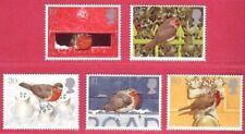 1995 GB Christmas Robins Set of 5 Stamps SG 1896 to 1900 UM