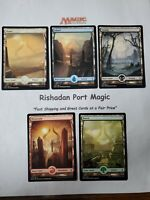 5x FULL ART Amonkhet Land Set (1x each color)  Magic: The Gathering MTG