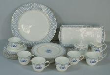 Hutschenreuther Blue Romance Rose Kaffeeservice Service 6 Pers. 23 Teile