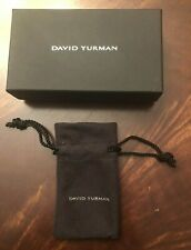 David Yurman Empty Jewelry Pouch and Box for Earrings Pendant Necklace Ring
