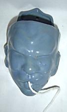 Vintage Blue Face String Holder Terra Cotta