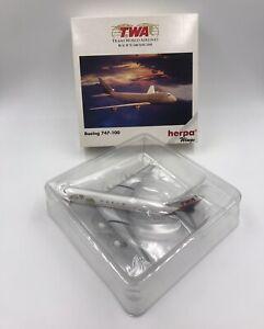 HERPA WINGS TWA BOEING 747-100  SCALE 1:500 IN ORIGINAL BOX NR.502504