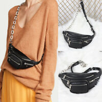 Convertible Small Mini Faux Leather Crossbody Sling Bag Purse Fanny Waist Pack