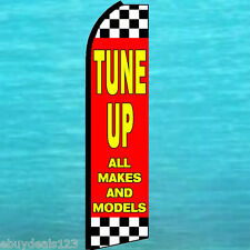 TUNE UP FLUTTER FEATHER FLAG Checker Swooper Vertical Advertising Sign Banner