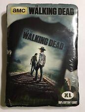 AMC The Walking Dead Railroad Tracks Graphic T-shirt (100% Cotton, XL, Sealed)