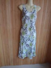 long dress size 8 from Wallis sleeveless V neck green / white print