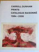 SIGNED Carroll Dunham Prints Catalogue Raisonne 1984-2006