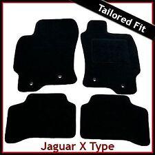 Jaguar X-Type 2.1 2.5 y 3.0 litros de 2001-2009 a la medida Alfombra Tapetes Coche Negro