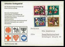 BUND FDC 1964 WOHLFAHRT MÄRCHEN BRÜDER GRIMM FAIRY TALES Nr 447/450 ca43