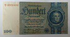 More details for 1935 100 reichsmark germany nazi pre wwii money currency swastika banknote aunc