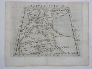 Original 1561 Ruscelli Ptolemaic Map ARMENIA CAUCASUS Russia Caspian Sea Persia