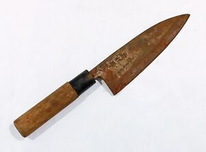 VINTAGE Japanese Deba Knife nakiri Kasumi Sakimaru chef whetstone Shapton Naniwa