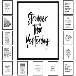 Inspirational Motivational Art Poster Wall Prints Pictures Home Decor Props Gift