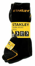3 Pairs Mens Stanley Work Socks Heavy Duty Reinforced Heel And Toe Size 6-11