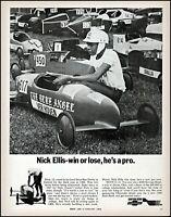 1969 Nick Ellis of Detroit Chevrolet Soap Box Derby vintage photo print ad adL20