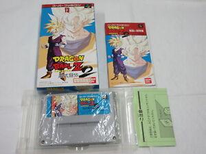 D57 Nintendo Super Famicom Dragon Ball Z Super Butouden 2 Japan SFC SNES w/box