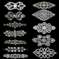 Diamante Rhinestones Motif Applique Patches Sew On Wedding Dress Belt Purse DIY