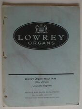 Lowrey Hilton TP-44 Organ Technical Service Repair Manual Schematics Part List