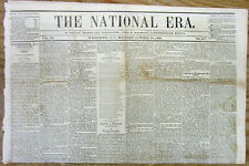 1858 newspaper LINCOLN-DOUGLAS DEBATE in QUNICY Illinois SQUATTER SOVEREIGNTY