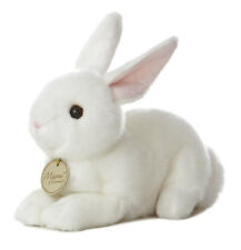 Miyoni Realistic 8 inch White Laying Easter Bunny Life Like Super Soft Au10910