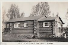 1940s KIAWA LAKE Quebec Canada RPPC Postcard CAMP MIWAPANEE Lodge Cabin
