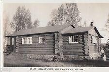 1940s KIAWA LAKE Quebec Canada RPPC Postcard CAMP MIWAPANEE Lodge Cabin