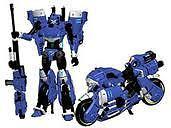 Transformers Perfect Effect Motobot PE-DX-01B RC Blue Arcee MISB