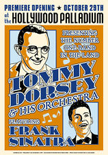 Tommy Dorsey & Frank Sinatra at Hollywood Palladium Concert Poster 1940