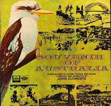 SOUVENIR OF AUSTRALIA compiled/narrated by john clements OELP 9387 LP PS EX/VG+