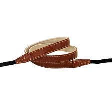 Brown leather neck strap for RF film Digital camera Nex GX1 E-P X10 J1 Leica