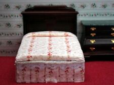 Dolls House Furniture 1:12 Double Bed - Mahogany EX11