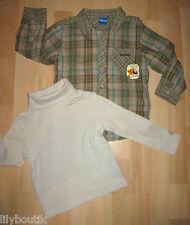 DISNEY, chemise écossais vert - OKAIDI, sous-pull beige - Taille 4 ans - TBE !!