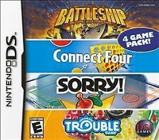 BATTLESHIP/CONNECT FOUR/SORRY!/TROUBLE * NINTENDO DS * BRAND NEW FACTORY SEALED!