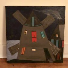 Vintage Folk Outsider Art Painting American Artist Signed MICHAEL SHEEDY 1984