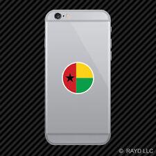 Round Guinea-Bissau Flag Cell Phone Sticker Mobile GNB GW
