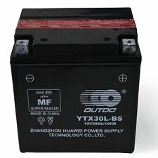 12V YIX30L-BS YTX30L-BS Sealed Gel Battery Quad ATV Motorbike Jetski CCA:280