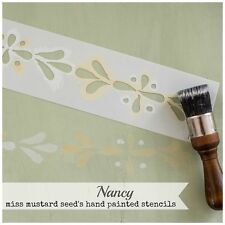 Miss Mustard Seed's Milk Paint hand painted STENCIL mms 04 Nancy - reusable