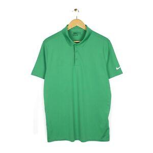Nike Golf Mens Green Standard Fit Short Sleeve Polo Shirt Top - Size L