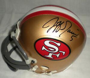 JEFF GARCIA SF 49ers Autographed Mini Helmet including BDS COA #3330
