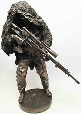 """12.5 Inch """"Concealed At Ready"""" Sniper Soldier Figurine Display"""
