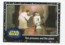 2016 STAR WARS JOURNEY TO THE FORCE AWAKENS BLACK BORDER #22 PRINCESS AND PLAN
