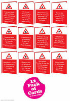 Brainbox Candy Rude Warning Christmas Xmas card multi pack of 12 funny cheeky
