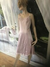 Vintage Vanity Fair Full Slip Nightie with Fancy Lace  Size 36