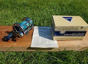 Olympic Dolphin 625 Level Wind Saltwater Fishing Reel + Original Box & Manual